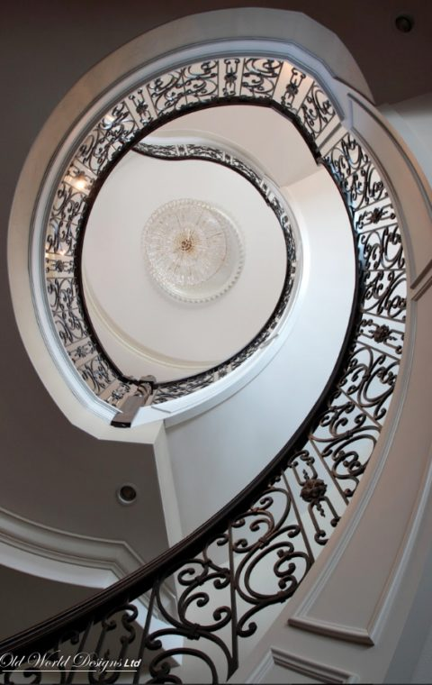 Circular staircase (metal and wood)