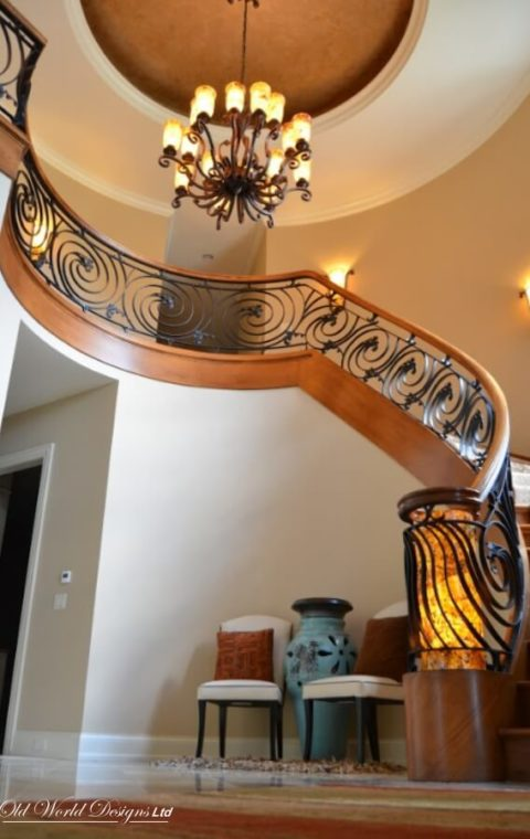 Old Brookwille circular staircase (metal and wood)