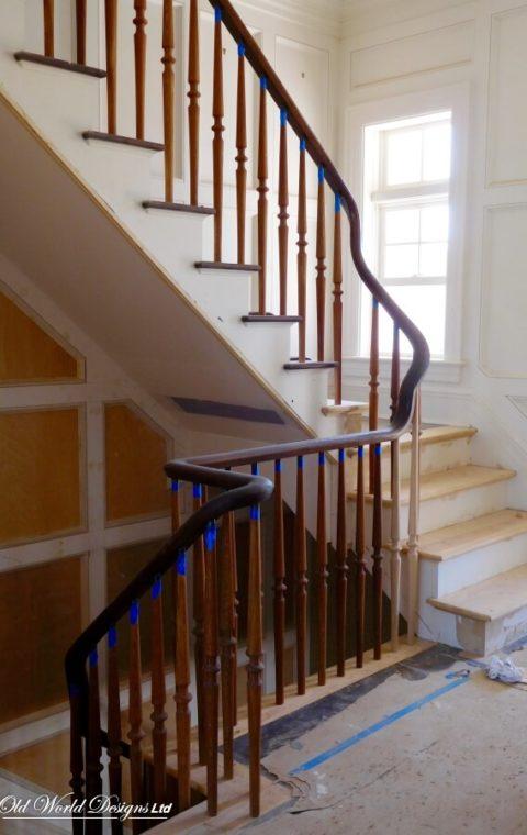 Edward Tyler Nahem Residence - Sagaponack - Straight staircase (wood)