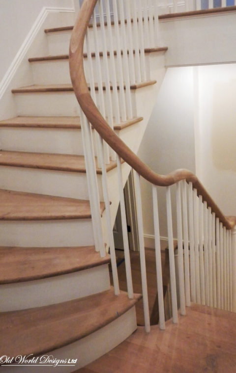 Cold Spring Harbor - Private Res. - Circular staircase (wood)