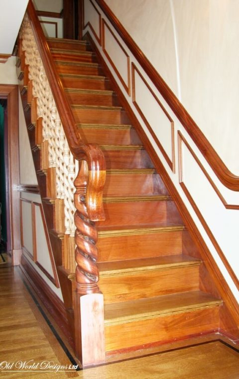 Brazilian cherry railing (wood)