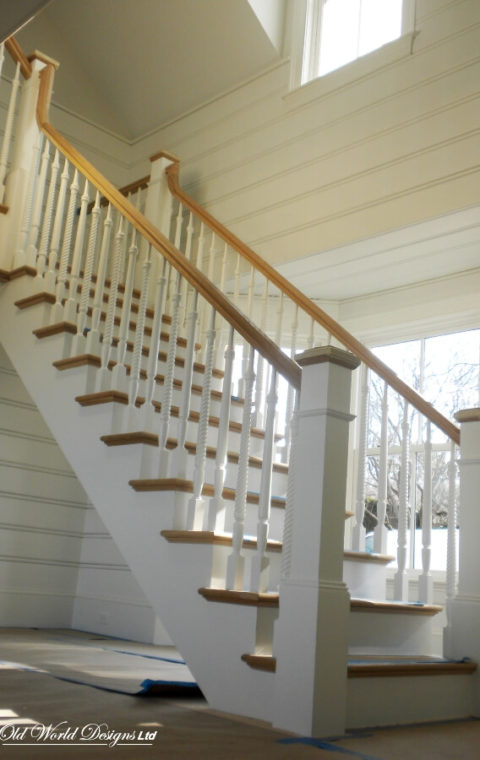 Straight staircase (wood)