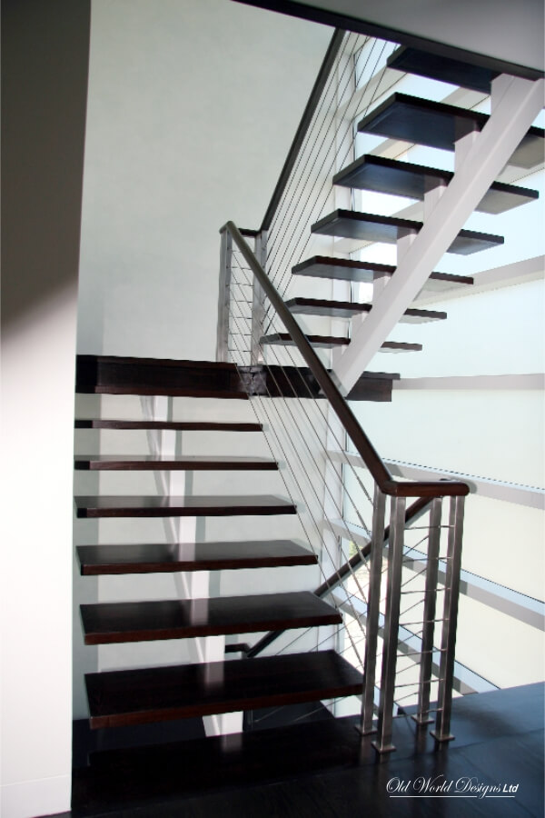 Cable railing - Straight staircase