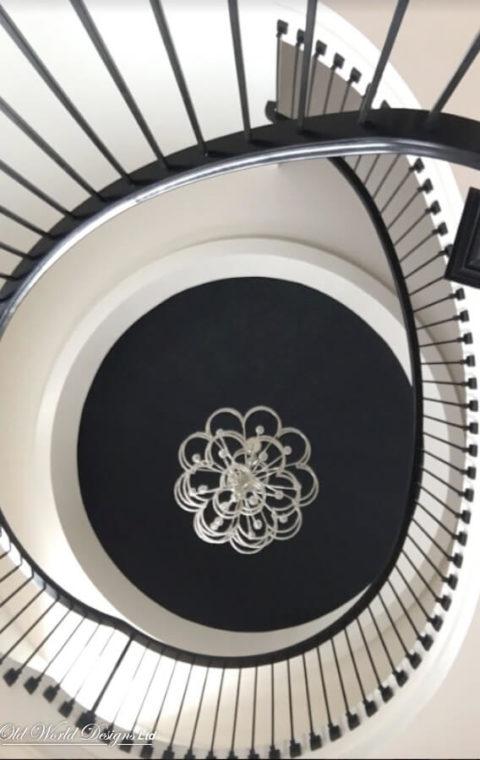 Circular staircase (metal and wood)