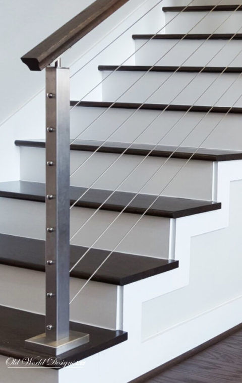 Manhattan Cable railing - (cable and wood)
