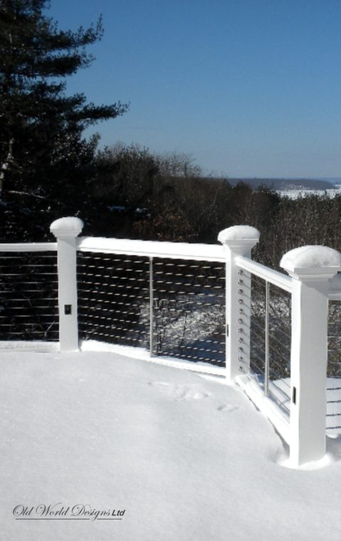 Mixed cable railing