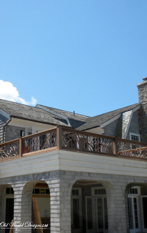 Outdoor balustrade (wood)