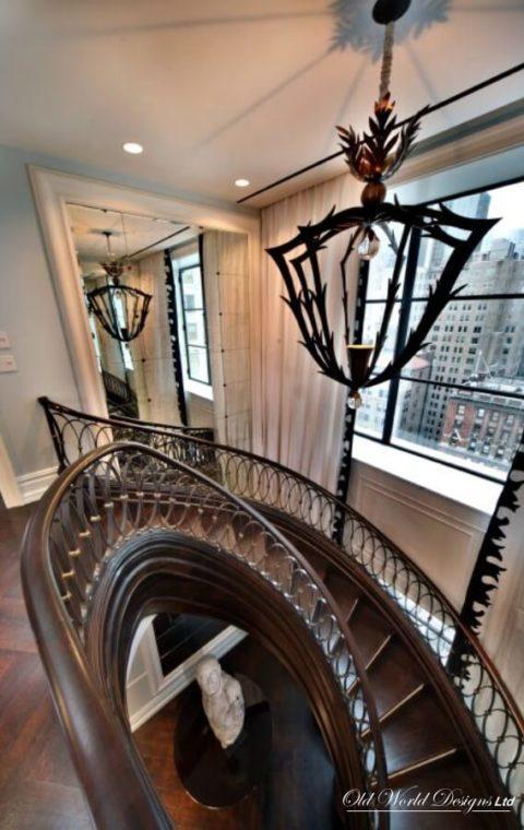 Elliptical staircase (metal, wood)