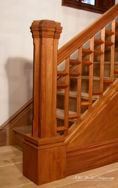 Huntington Bay - straight staircase (wood)