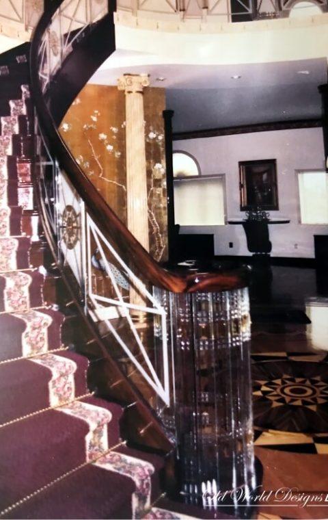 Art Deco (glass and wood)