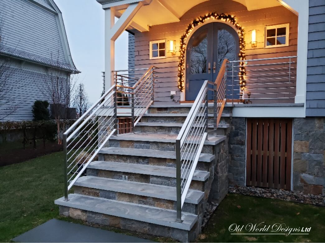 Solid Stainless Steel railing - Old World Designs Stairs ...
